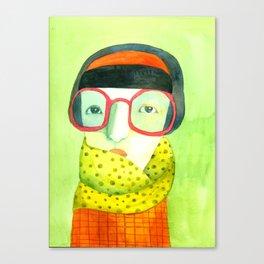 Portrait with glasses Canvas Print