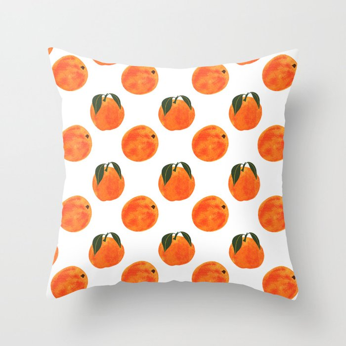 Peach Harvest Throw Pillow