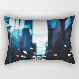 Blurred City Lights Rectangular Pillow