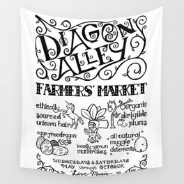 Diagon Alley Farmers' Market Wall Tapestry