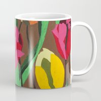 tulips Mugs featuring Tulips  by Marjolein