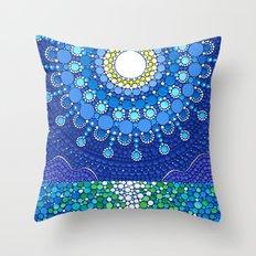 Full Moon Splendour Throw Pillow