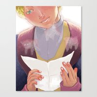 the little prince Canvas Prints featuring little prince by zebeck