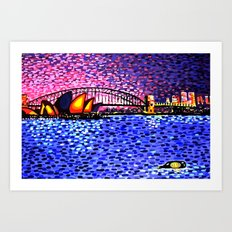 Sydney Harbour Art Print