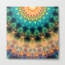 Colorful Abstract Sun Metal Print