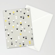 little triangles yellow Stationery Cards