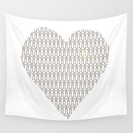 Penis at heart Wall Tapestry