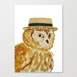 Dapper Owl or Owl Capone? Canvas Print