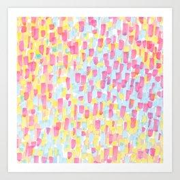 Impressionist pattern Art Print