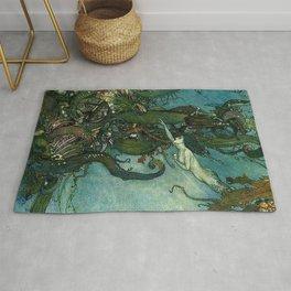 The Mermaid By Edmund Dulac  Rug