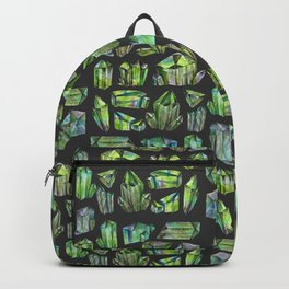 Green gems diamonds Backpack