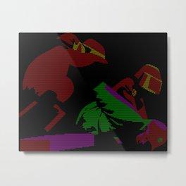 A Hero Falls Metal Print