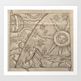 Flammarion Engraving Detail Art Print