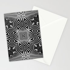Black & White Tribal Symmetry Stationery Cards
