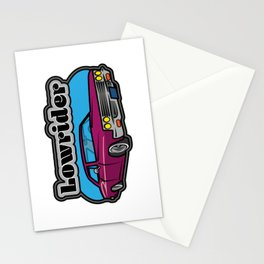 Lowrider Car Stationery Cards