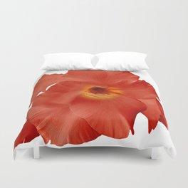 Sword Flower Red Yellow Duvet Cover