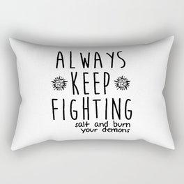 Keep Fighting Rectangular Pillow