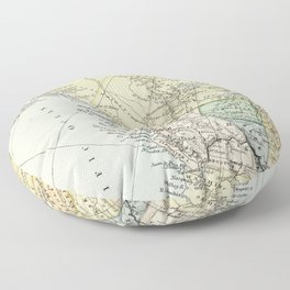 Vintage Map of Canada Floor Pillow