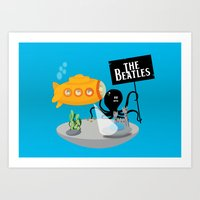 yellow submarine Art Prints featuring Yellow Submarine by Ewan Arnolda