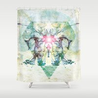 rorschach Shower Curtains featuring Rorschach by not a name