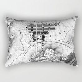 Vintage Map of The Gettysburg Battlefield (1863)BW Rectangular Pillow