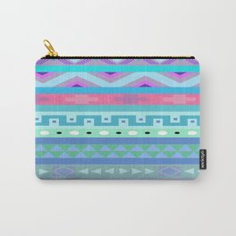 Calm Colored Tribal Print Carry-All Pouch