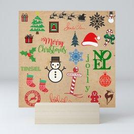 Merry Christmas Collage Mini Art Print