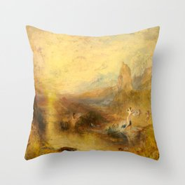 "J.M.W. Turner ""Glaucus and Scylla"" Throw Pillow"