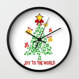 JOY TO THE WORLD Music Family Christmas Gift Wall Clock