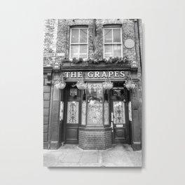 The Grapes Pub London Metal Print