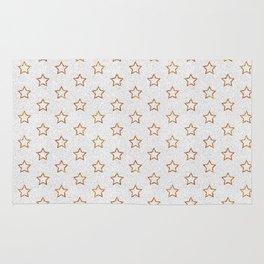 Chic white faux gold glitter modern stars pattern Rug