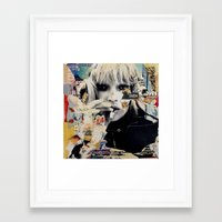 kate moss Framed Art Prints featuring Kate Moss by Michiel Folkers