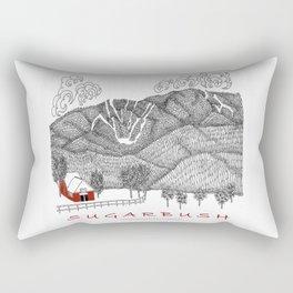 Sugarbush Vermont Serious Fun for Skiers- Zentangle Illustration Rectangular Pillow