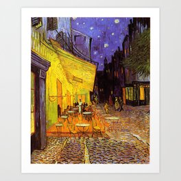 Vincent Van Gogh Cafe Terrace At Night Art Print