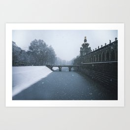 Cold and blue Zwinger Art Print