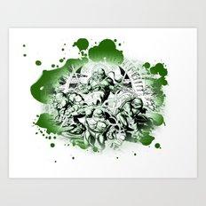 TMNT redo Art Print