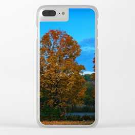 Autumn Moonset Clear iPhone Case