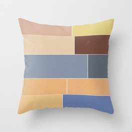 The Decay of Color Throw Pillow