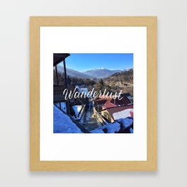 Wanderlust // #TravelSeries Framed Art Print