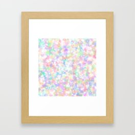 Rainbow Bubbles of Light Framed Art Print