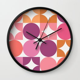 Mid Century Shimmering Sunset Wall Clock