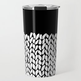 Half Knit  Black Travel Mug