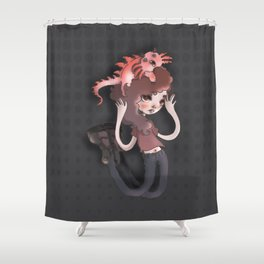 The monster in my head is cuter than me Shower Curtain