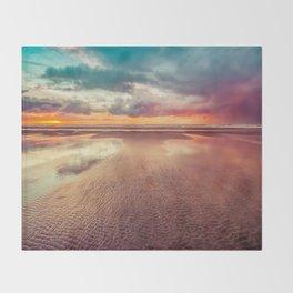Beach Love Ocean Sunset Throw Blanket