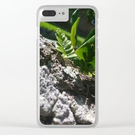 Shine Down, Green Clear iPhone Case