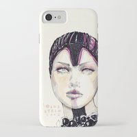 fashion illustration iPhone & iPod Cases featuring Fashion illustration  by Ioana Avram