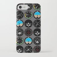 mortal instruments iPhone & iPod Cases featuring Flight Instruments by robyriker