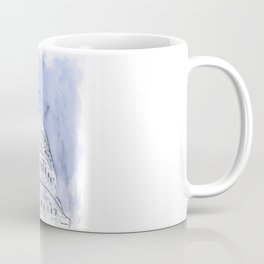 Nation's Capitol Abstract Mixed Media Cyanotype Coffee Mug
