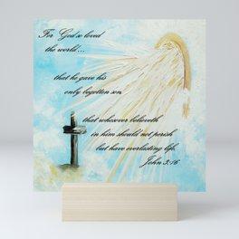 For God so Loved the World Mini Art Print