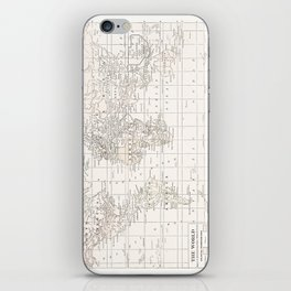 Vintage Cream and White iPhone Skin